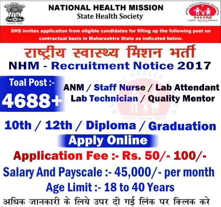 National Health Mission Recruitment 2017