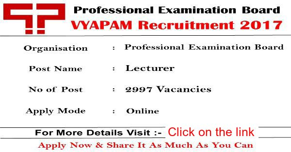 Professional Examination Board Recruitment