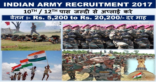 Indian Army Jobs 2017