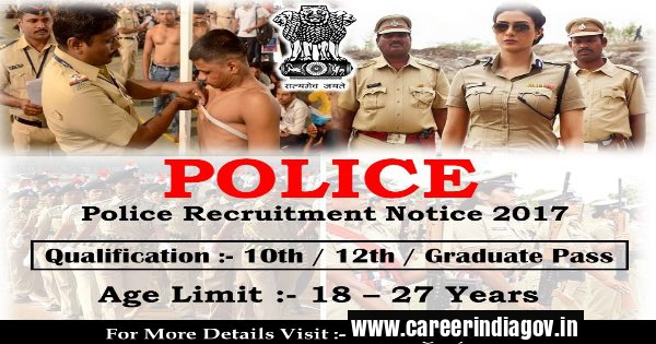 State Police Recruitment 2017