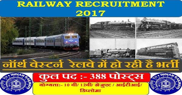 North Western Railway Recruitment 2017