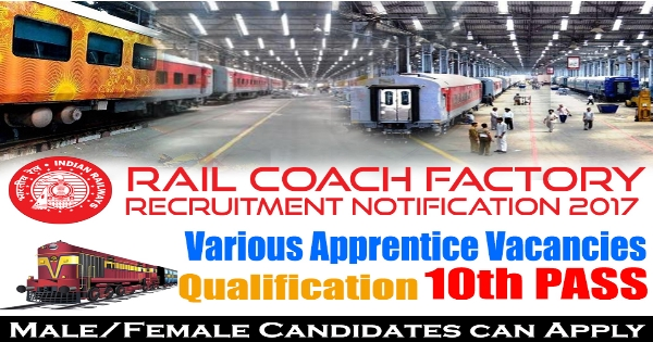 Railway Coach Factory Recruitment