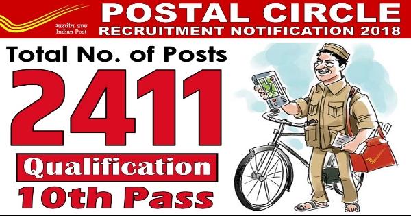 Postal Circle Recruitment 2018-19